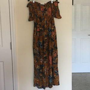 UO Kimchi Blue Off-the-shoulder Smocked Dress